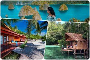resort hotel homestay raja ampat